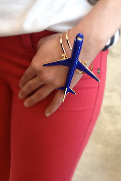 blue Number A bracelet