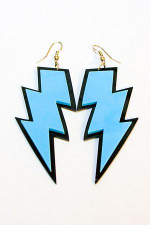sky blue Number A earrings