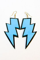 sky blue Number A earrings