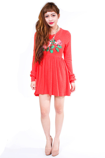 red wildfox couture dress
