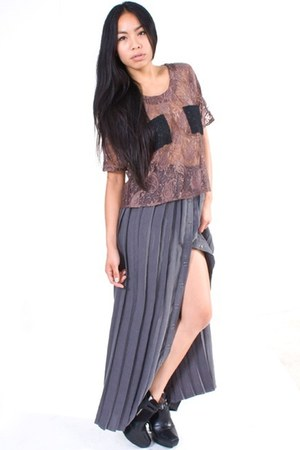 heather gray funktional skirt