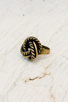 camel brass knot ring ring