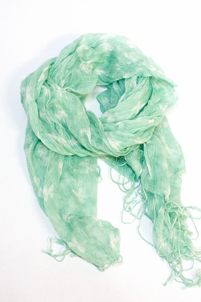 light blue Number A scarf