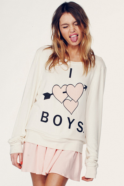 ivory wildfox couture sweater
