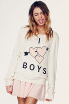 Ivory-wildfox-couture-sweater