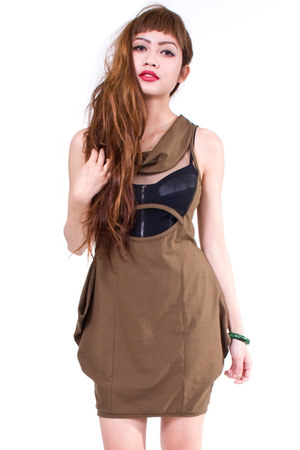 army green BOTB dress