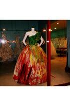 red dress - green dress - gold dress - white dress