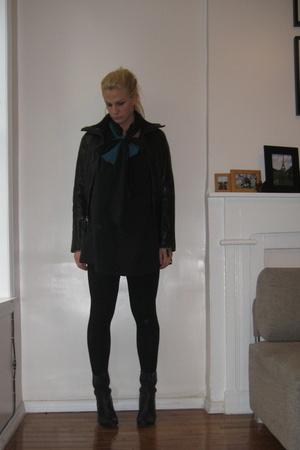 Burlington coat factory jacket - bitten dress - forever 21 scarf - chocolat blu