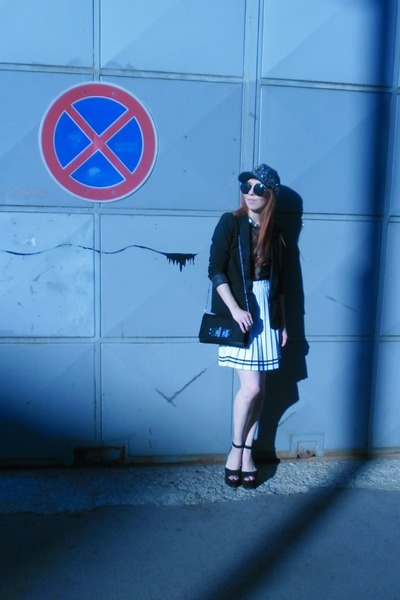 H&M purse - H&M Trend hat - H&M Trend blazer - reserved sunglasses