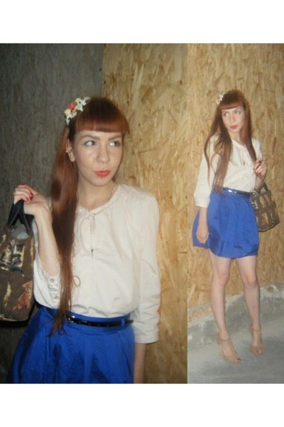 H&amp;M heels - Secondhand bag - Present skirt - Ltoms accessories