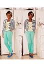 Aquamarine-h-m-jeans-scarf-light-yellow-chiffon-forever21-blouse