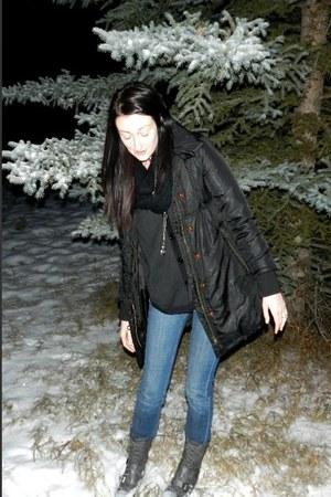 GoJane boots - Buffalo jeans - Ebay jacket - Forever 21 cape