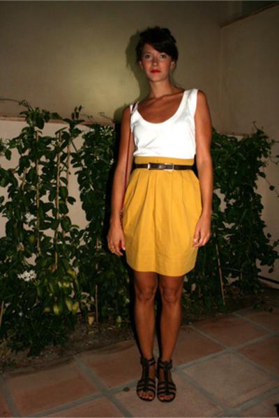 B&L t-shirt - Topshop skirt - vintage belt - YSL