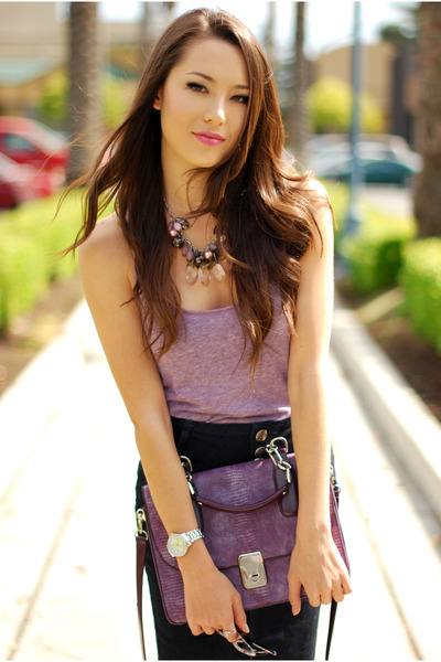 amethyst Handbag Heaven bag - light purple Forever 21 top