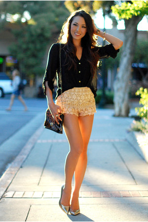 tan Chicwish shorts - dark brown Very Honey bag