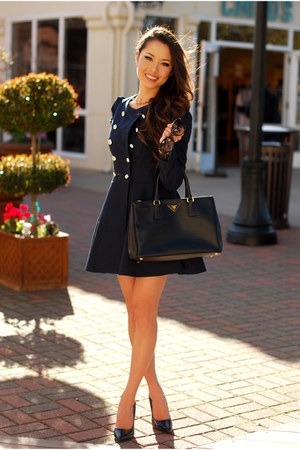 navy Sheinside coat