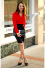 Black-dapper-diction-bag-black-dailylook-skirt-red-chiffon-rieley-top