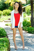 Style Sofia blazer - PacSun shorts - New York and Company top