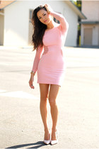 light pink mesh Motel Rocks dress - light pink patent Boutique 9 heels