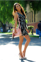 light pink OASAP bag - black Mont Affair dress - light pink Boutique 9 heels