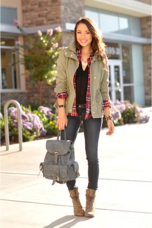 H&M jacket - H&M jeans - shirt - H&M shirt