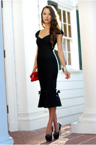 black Lolita Girl dress - red Lulus Townsend bag - black OASAP heels