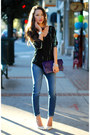 Navy-david-kahn-jeans-deep-purple-heather-belle-co-bag