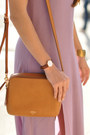 Amethyst-tobi-dress-heather-gray-goorin-bros-hat-camel-fossil-bag
