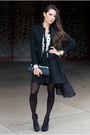 Black-awwdore-dress-black-vivilli-jacket-black-aldo-heels