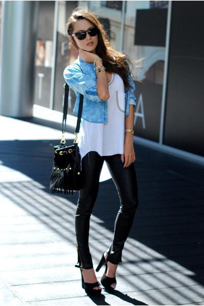 dark brown IVI sunglasses - periwinkle Flirt Catalog jacket