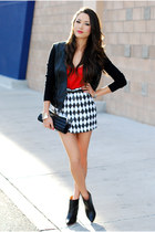 Bebe skirt - bcbg max azria jacket - New York and Company top