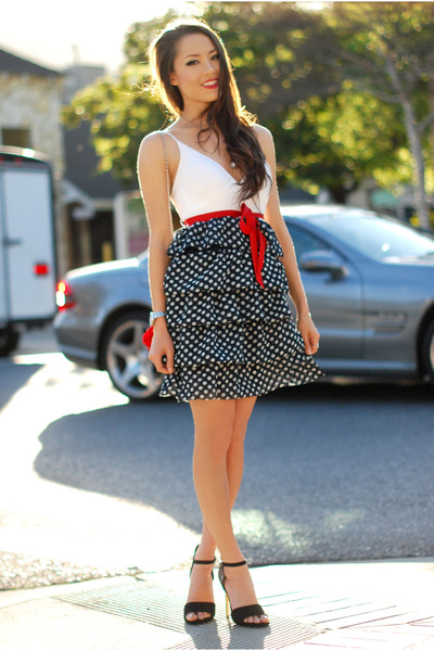 navy tailor and stylist dress