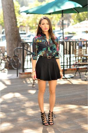 blouse - Chinese Laundry heels - romwe skirt