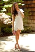 white Style Sofia dress - bubble gum Lulus Townsend bag
