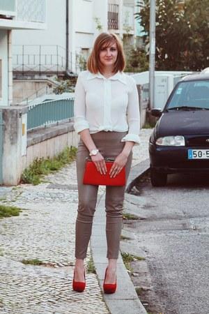 light brown Zara pants