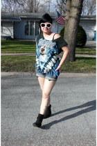 shirt - black Qupid boots - Idle Minds shorts