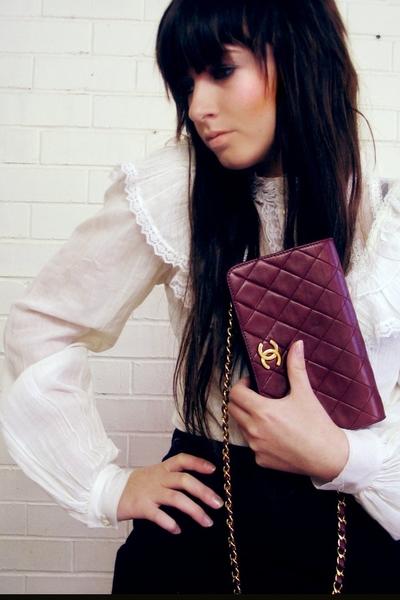 Chanel purse - vintage blouse