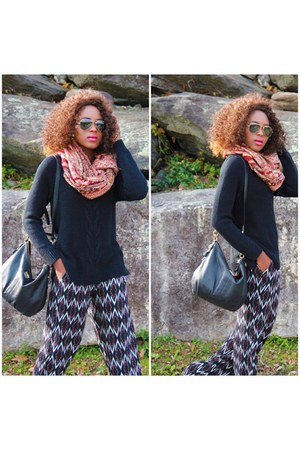black kohls sweater - black kohls pants