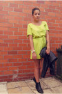 Black-river-island-boots-lime-green-t-shirt-dress-fashion-world-dress
