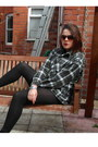 Army-green-flannel-shirt-unknown-shirt-black-river-island-boots