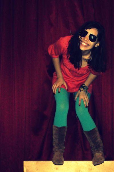 dress - American Appareler leggings - Pepper boots