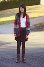 Red-vintage-sweater-white-topshop-shirt-black-bdg-skirt-black-betsey-johns
