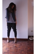 Zara pants - Pull & Bear shirt - vintage vest - Fendi vintage boots