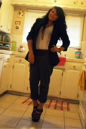 brothers blazer - shirt - Old Navy pants - f21 shoes