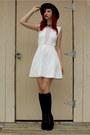 Black-platform-charlotte-russe-boots-white-skater-kirra-dress