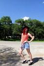 Black-hat-black-bowling-shoes-orange-sleeveless-kirra-shirt