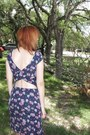 Shoes-navy-floral-print-kirra-dress