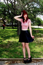 bubble gum crop kirra top - black skater Charlotte Russe skirt