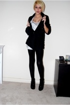 black tights Target tights - black Forever21 boots - black Gap sweater