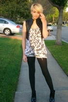 Gucci vest - Urban Outfitters blouse - hollister shorts - Target tights - foreve